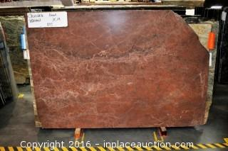 LOT OF (3) SLABS: CHOCOLATE BRUSHED, LUCE FLEURI POLISHED