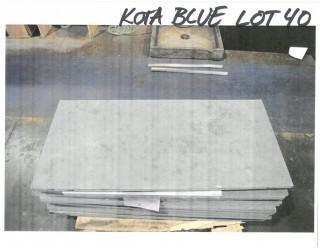 LOT OF (26) SLABS: KOTA BLUE HONED