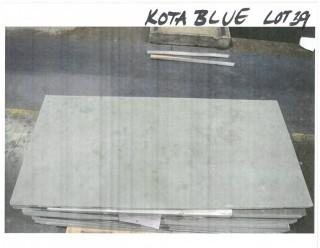 LOT OF (21) SLABS: KOTA BLUE HONED