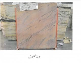 LOT OF (6) SLABS: VEGAS ROCK RAINBOW GOLD, VEGAS ROCK RAINBOW POLISHED,