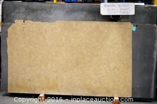 LOT OF (9) SLABS: BACAR YELLOW HONED