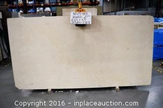 LOT OF (5) SLABS: HAUTLYRE HONED, CREMA SAVOY POLISHED, RAMON YELLOW - MEDIUM HONED
