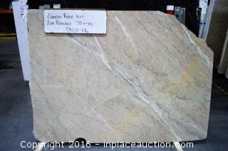 LOT OF (1) SLABS: CAMPAN ROSE VERT POLISHED