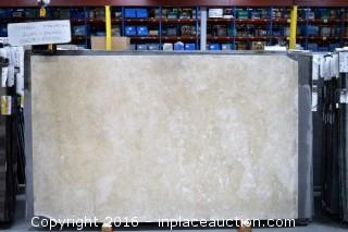 LOT OF (5) SLABS: 2CM CLASSIC TRAVERTINE