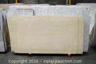 LOT OF (9) SLABS: LEMON DOLOMITE POLISHED