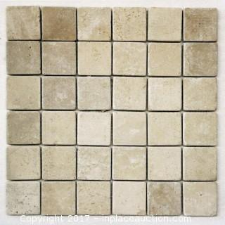 "Lot of 1 Crate: Durango Tumbled - 2"" x 2"" x 3/8"" (500 sheet = 500 sq ft)"