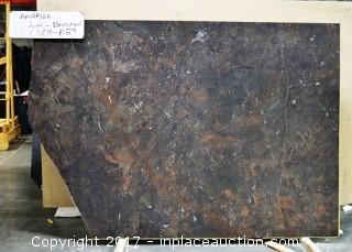 LOT OF 5 SLABS: (1) Amarula Brushed, (1) Caccatta Tucci, (1) Amarula Polished, (1) Sea Foam, (1) Stellar White