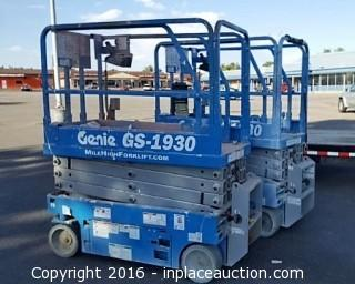 2015 Genie GS1930 Scissor Lift s/n GS3016A-150490