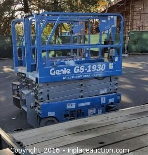2015 Genie GS1930 Scissor Lift s/n GS3016A-150494