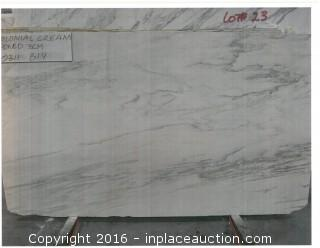 LOT OF (4) SLABS: COLONIAL CREAM HONED