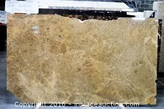 """LOT OF (6) SLABS: RIGATO POLISHED, SHELLS REEF POLISHED, MARBLE SLAB 3/4"""" THICKNESS, VERDE COLORADO CROSSCUT POLISH"""