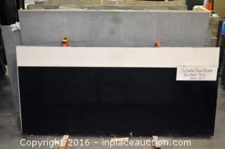 LOT OF (4) SLABS: CELADOR BLACK GLASS # 830