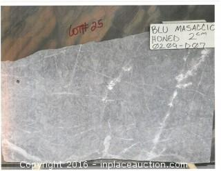 LOT OF (1) SLAB: BLU MASACCIO HONED