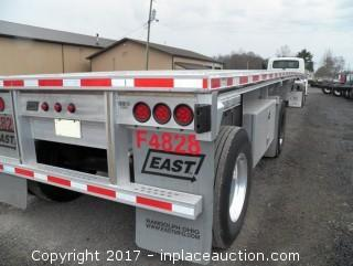 2015 East Flatbed Trailer
