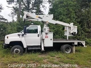 2006 GMC C5500 Altec AT37G Aerial Lift Bucket Truck w/ rebuilt engine w/ warrantee