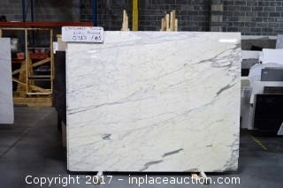 LOT OF 6 SLABS: (6) Statuario Tucci