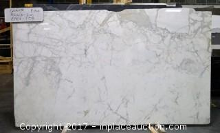 LOT OF 6 SLABS: (1) Calacatta Extra, (3) Marble Slab, (1) Calacatta Tucci, (1) French Vanilla