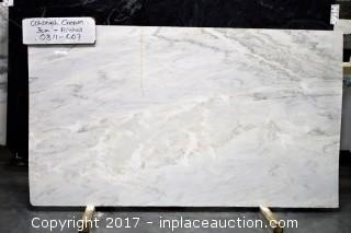 LOT OF 5 SLABS: (3) Colonial Cream, (1) Pietra Cardosa, (1) Basaltina