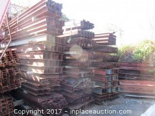 Steel I-Beams For Sidewalk Bridge