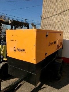GESAN Portable Generator 27 kw RUNS GREAT ONLY 308 hrs.**WATCH VIDEO - HEAR IT RUN! ***