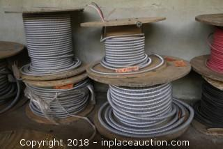 (4) Spools of Metal Clad Cable of Various Length and Diameter