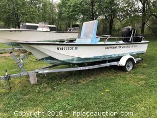 Boston Whaler 16'Boat With Venture Trailer