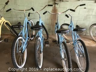 (4) Blue Bicycles