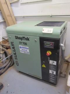 2015 Sullair ShopTek ST700 Air Compressor (Maintained Quarterly)